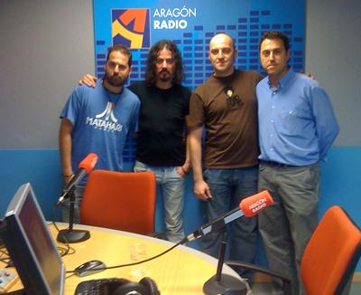 Sergio Falces, Pedro Andreu, Luis Sancho y David Chapín