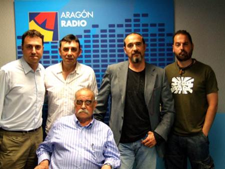 Carbonell, Labordeta y Eduardo Paz en Aragón Suena